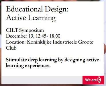 Conferentie voor docenten: Active Learning